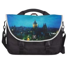 Laptop bag with photograph of the skyline Amsterdam #art #amsterdam #gift