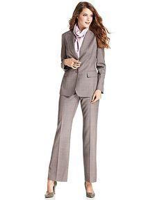 Anne Klein Suit, Removable Scarf Jacket & Pants - Womens Suits & Suit Separates.