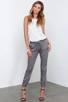 O'Neill Cassandra Pants - Jogger Pants - Grey Pants - $49.50