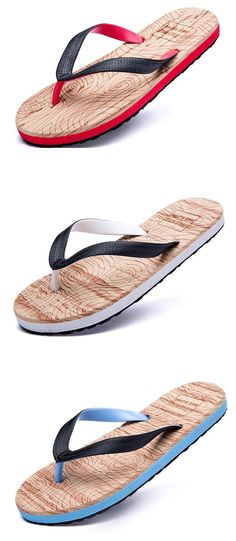 91e55e87676369 Clip Toe Cool Slippers Comfortable Flat Beach Flip-flops For Men Beach Flip  Flops