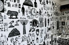 Drawn Ideas Room Installation by Russell Cobb, via Behance