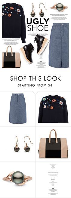 """Ugly (But Chic?!) Shoes"" by pearlparadise ❤ liked on Polyvore featuring dVb Victoria Beckham, Victoria, Victoria Beckham, StyleNanda, STELLA McCARTNEY, contestentry, uglyshoes, pearljewelry and pearlparadise"