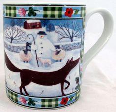Fox Mug Exclusive Funny & Cute Fox Farm Scene Porcelain Mug Hand Made in UK #RainbowDecorsLtd #ArtDeco