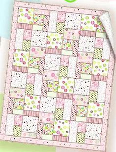 Essential Flannel Baby Quilt - Free Pattern- this looks so cute and easy.  Wouldn't have to be a baby quilt...