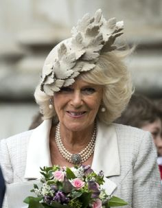 Camilla, Duchess of Cornwall attends the 2014-Commonwealth day observance service at Westminster Abbey in London, England.