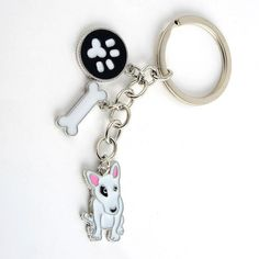 Various Dog Breeds Pendant Keychains/Purse Charms