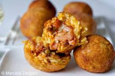 Image result for fried rice balls WITH CHEESE RECIPES