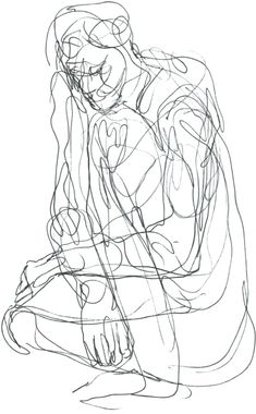 Example of a couture drawing: Approaching Figure Drawing - Drawing Contour Line Drawing, Gesture Drawing, Life Drawing, Drawing Sketches, Art Drawings, Figure Sketching, Figure Drawing Reference, Anatomy Reference, Alberto Giacometti