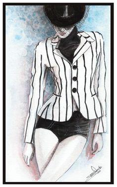 """Ralph Lauren"" Fashion illustration done in watercolors...... ~BellaDonna~"