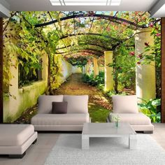 Vintage Alley Wallpaper Sticker Living Room Photo Wall Mural Art Background Wallpaper for the wall design and ideas Floor Murals, 3d Wall Murals, Mural Art, Wallpaper Floor, Photo Wallpaper, Wallpaper Murals, Green Wallpaper, Bedroom Wallpaper, Wallpaper Wallpapers