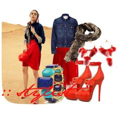 Crimson+Denim, created by stylismatic on Polyvore