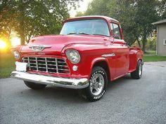 Gm Trucks, Cool Trucks, Vintage Pickup Trucks, Vintage Cars, Muscle Truck, Muscle Cars, 55 Chevy Truck, Chevy Girl, 1955 Chevy