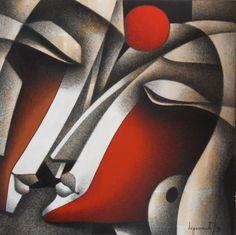 Modern Art, Contemporary Art, Art Visage, Abstract Face Art, Arte Country, Cubism Art, Art For Art Sake, Indian Paintings, Indian Art