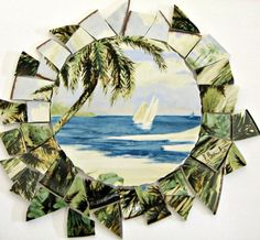 Mosaic Craft Tiles Sakura Tropical Island by CalicoSkiesMosaics