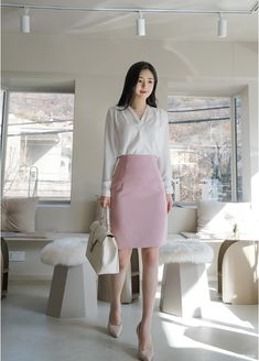 T-Shirts, Dress, Blouse, Skirts, Pants & Office Outfits Women Casual, Business Outfits Women, Stylish Work Outfits, Professional Outfits, Edgy Outfits, Korean Outfits, Classy Outfits, Girls Fashion Clothes, Kpop Fashion Outfits