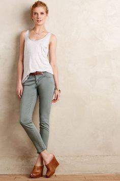 AG Stevie Sateen Ankle Jeans - anthropologie.com