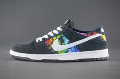 "Nike SB Dunk Low Pro ""Ishod Wair"" - Tags: sneakers, low-tops, black, gray, roygbiv"