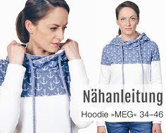 Oberteile & Jacken - Schnittmuster Damen Kapuzenpulli Hoodie Pullover - ein Designerstück von mrs_b bei DaWanda