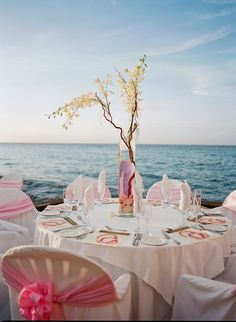 Pink and pretty in Ocho Rios, Jamaica wedding.   Photography : Christina McNeill Read More on SMP: http://www.stylemepretty.com/destination-weddings/2013/11/29/ochos-rios-jamaica-wedding-from-christina-mcneill/