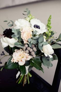 Love this simple color palette! Photographer: Isabelle Selby Photography | Floral Design: Sprout via Style Me Pretty