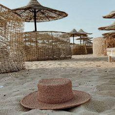 """Raffia canonier Hat"" Raffia Hat, Wide Trousers, Summer Hats, Fall Wardrobe, Hat Sizes, Beach, Boater, The Beach, Beaches"
