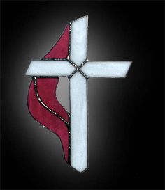 Christian cross with Holy Spirit flame suncatcher ~ handmade by Contois Reynolds Stained Glass Studio. Stained Glass Suncatchers, Stained Glass Crafts, Stained Glass Designs, Stained Glass Patterns, Stained Glass Church, Stained Glass Christmas, Stained Glass Panels, Mosaic Glass, Fused Glass