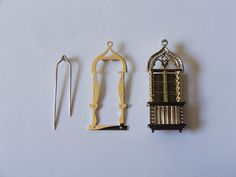 "Brooch elements - ""Venetian window"" - ALL HAND MADE -"