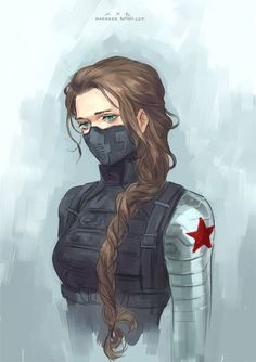 I will never EVER be over genderbent Bucky