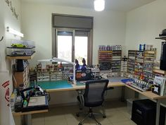 HobbyZone's Modular Workshop System for Dense, Compact Organization of Tools Materials - Hobby Desk, Hobby Room, Craft Paint Storage, Craft Room Desk, Fly Tying Desk, Shelf Design, Home Office Decor, Room Set, Diorama