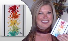 "VIDEO: Butterfly Rainbow Splatter Wow Card Idea | Stampin Up The butterflies look like they are coming to life out of the ""splatter"" art. And the best part is, you can make this card even if you aren't an ""artist"". Video on blog"