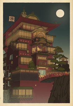 Miyazaki-estampe-japon-affiche-06 - La boite verte