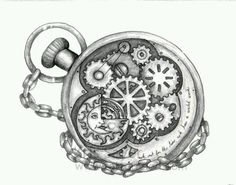 I'm looking for a pocketwatch/clock design that would look good with the phrase…