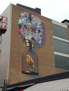 Muurschildering Heerlen 2013