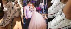 Tendência do ano: Noiva de tênis personalizado! - Universo das Noivas Sneakers, Skirts, Wedding, Adidas, Shoes, Fashion, Sweet Fifteen, Cozy Outfits, Wedding Decoration