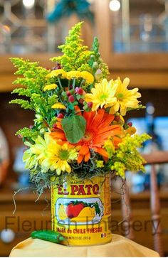 In San Antonio, we celebrate Fiesta! Wouldn't this make the cutest table decor during Fiesta season? Mexican Fiesta Party, Fiesta Theme Party, Taco Party, Festa Party, Mexican Theme Parties, Mexican Theme Baby Shower, Mexican Themed Party Decorations, Fiesta Party Centerpieces, Mexican Wedding Centerpieces
