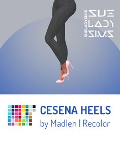 "Simmie Simmers, There you go as promised here is a simple maxis match recolor of the super beautiful Cesena Heels! I love those the most. I simply miss classic high heel, well I mean real HIGH heels"" within the Sims but hey we have luckily..."
