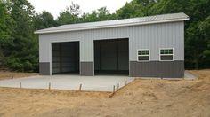 Playful doubled shed building plans You might consider Pole Barn Garage, Garage Loft, Garage Shed, Pole Barn Homes, Garage Plans, Shed Plans, Garage Ideas, Boat Garage, Steel Garage