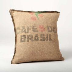 Voilà une super idée pour les sacs en toile de jute que j'ai ramenés du Brésil.  ☕️
