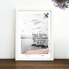 Originaldruck - Wenn der Weg schön ist - Druck von Formart - ein Designerstück von Formart-Zeit-fuer-schoenes bei DaWanda