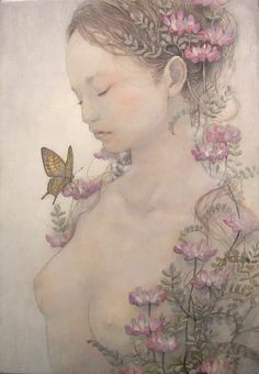 Miho Hirano - 魅惑 SM Oil on wood