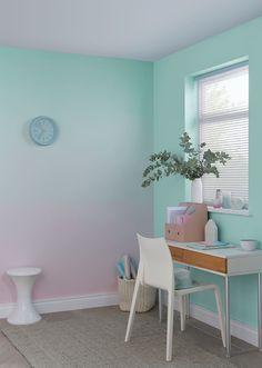60 Luxury Ombre Wall Paint Design Ideas For Your Living Room Girl Bedroom Walls, Girl Room, Bedroom Decor, Bedrooms, Room Wall Painting, Room Paint, Ombre Painted Walls, Ombre Walls, Pastel Room