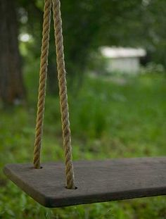 I remember a swing similar to this that hung from a branch on a willow tree....