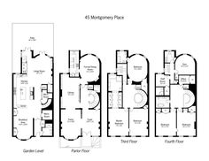 1000 ideas about condo floor plans on pinterest luxury for Brownstone townhouse plans