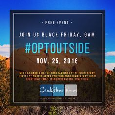 We created this #socialmedia graphic for a local #COSprings #homebuilder who decided to close their model homes #November 25th (#BlackFriday) encouraging our community to #OptOutside at #GardenoftheGods. If you want to attend this free event they'll gather at 9am. What a fun idea! #webdesign #graphicdesign #seo #logos and #emailmarketing. If there's anything we can do to help get your message out there let us know. Visit us on Live Chat at www.720media.com #720media