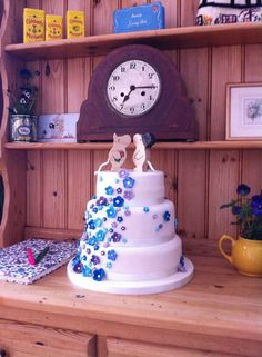 Hunsdon Village hall, afternoon tea, wedding, moomin, forget me nots.