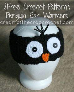 Cream Of The Crop Crochet ~ Penguin Ear Warmers {Free Crochet Pattern}