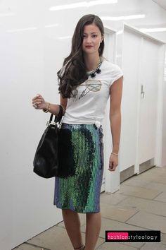 17 best ideas about Green Sequin Skirt on Pinterest   Sequin shirt ... women's fashion and style. green pencil skirt