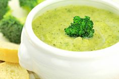 Cream of Broccoli Soup - Recipes for Healthy Living by the American Diabetes Association® Creamy Broccoli Soup Recipe, Broccoli Cauliflower Soup, Broccoli Soup Recipes, Cream Of Broccoli Soup, Broccoli Cheese Soup, Broccoli Dishes, Broccoli Chicken, Coconut Milk Nutrition, Veggies