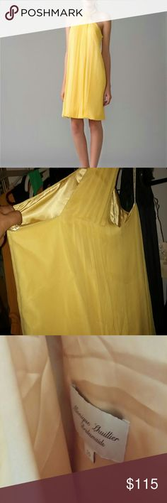 Monique Lhuiller Daffodil Crinkle Chiffon Dress Gorgeousness! Beautiful NWT Monique Lhuiller daffodil yellow chiffon dress. Monique Lhuillier Dresses
