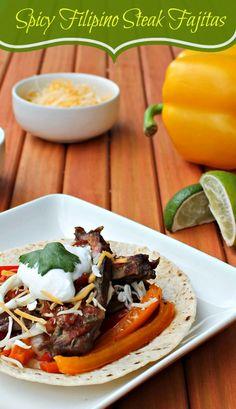Spicy Filipino Steak Fajita Recipe
